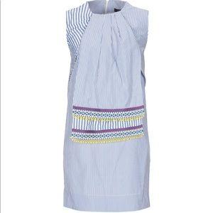 Weekend MaxMara Striped Short Dress in White